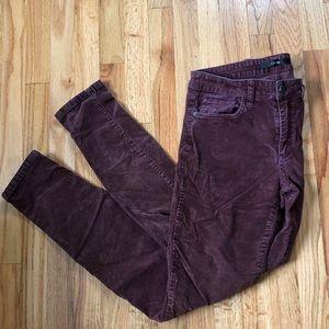 Joe's Jeans corduroy skinny fit pants size 28